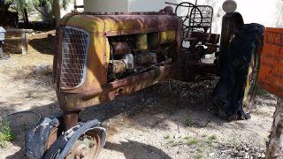 Antique Vintage Tractor 1940 ' S Oliver 70 Row Crop photo
