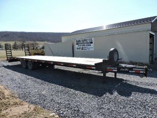 2014 Corn Pro 35 ' Pull Behind Trailer 24,  000 Lbs.  Tandem Axle Wood Deck Ramps photo