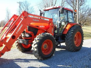 1 Owner Kubota M108x Cab+loader+4x4 With 748 Hours Condition photo