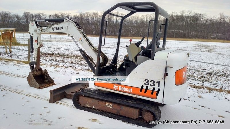 2008 Bobcat 331 Mini Excavator 331g 2 Speed 40hp Kubota Unit Excavators photo
