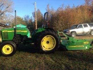 John Deere 5105 Tractor And Mx6 Rotary Cutter photo