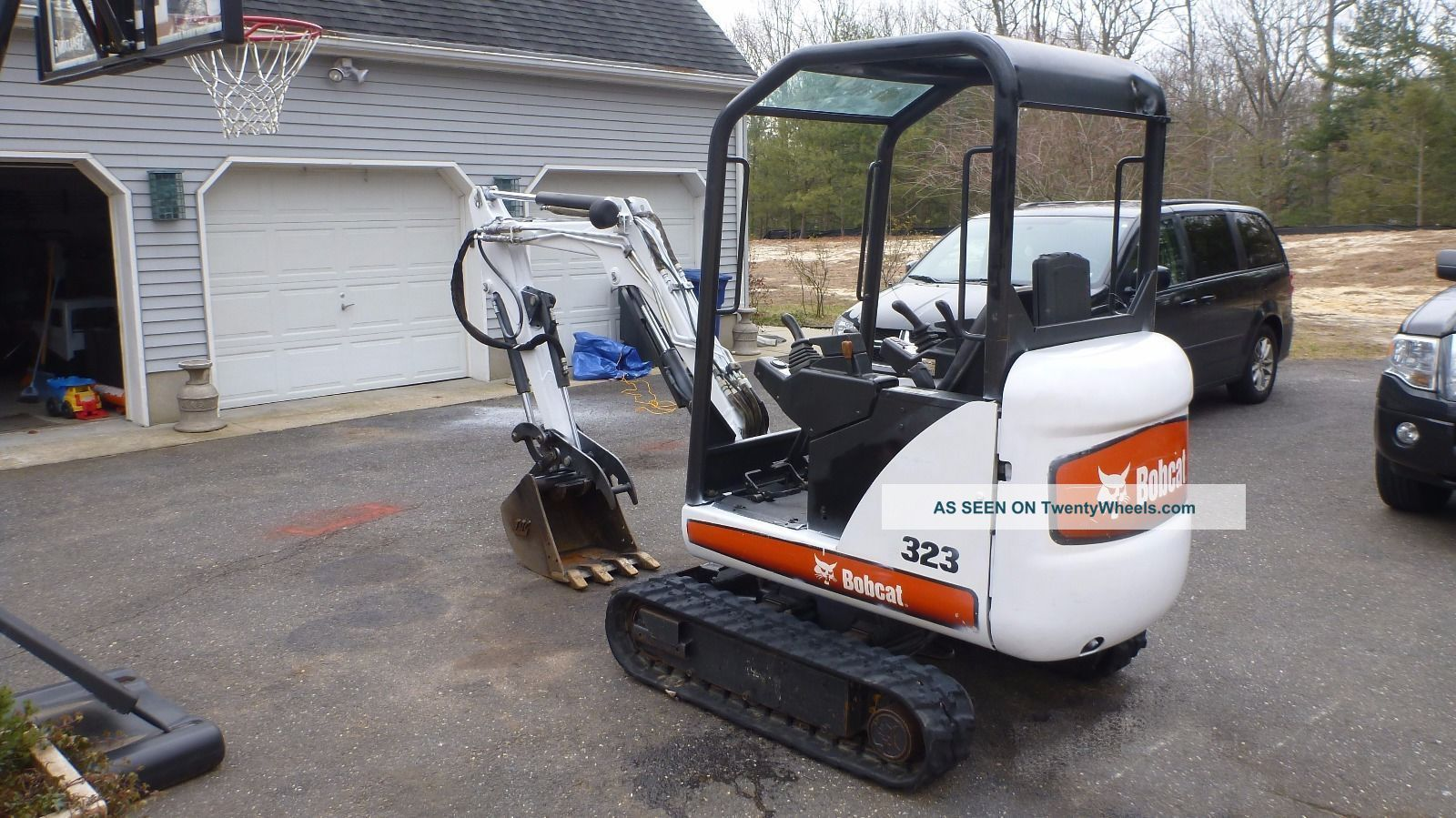 2008 Bobcat 323 Mini Excavator With Hydraulic Thumb No
