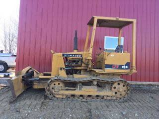 Komatsu D21e Dozer With 6 Way Blade,  Diesel,  Runs Strong photo