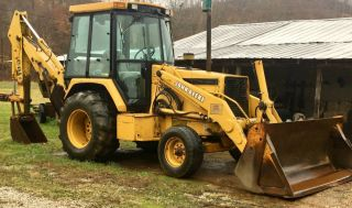 1995 John Deere 310d Backhoe Loader Cab With Heat photo