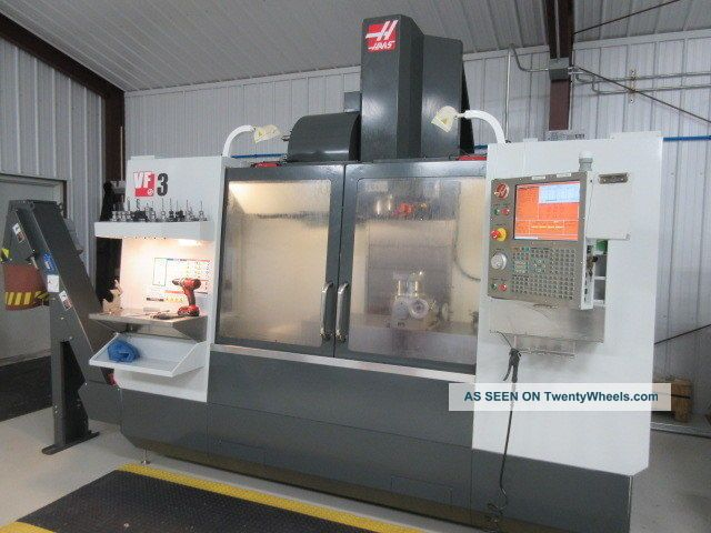 Haas Vf - 3 Cnc Machine W/ Coolant Thru Spindle,  Renishaw Probing,  4th Pre - Wire Milling Machines photo