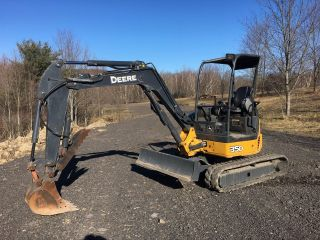 John Deere 35d Excavator With Hyd Thumb photo