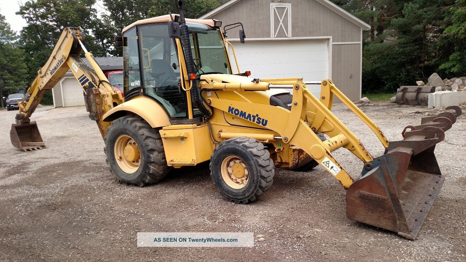 2004 Komatsu Wb140 Loader Backhoe 4x4 Extenda Hoe Enclosed Cab Backhoe Loaders photo