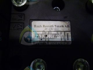 Rexroth 261 - 208 - 40c Pneumatic Valve (as Picuted) No Box photo