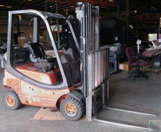 1999 Linde Model H16 Propane Lpg Forklift 3000lbs Capacity - Needs Starter photo