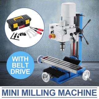 Mini Milling Drilling Machine With Belt Drive 550w Motor Mill Tool Sameday Ship photo