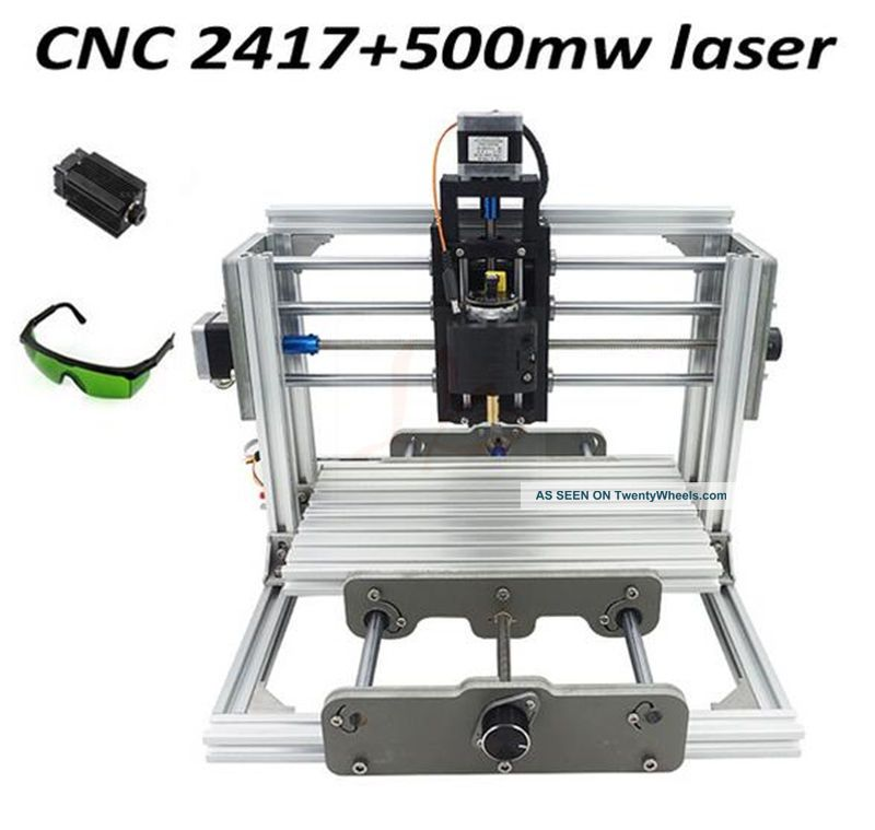 Mini Cnc Router & Laser 500mw 2 In 1 Engraving Machine,  240 170 65mm Milling Machines photo