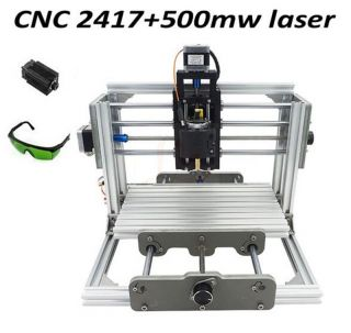 Mini Cnc Router & Laser 500mw 2 In 1 Engraving Machine,  240 170 65mm photo