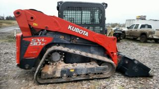 2015 Kubota Svl90 Cab A/c 2 Speed Highflow Multi Terain Compact Skid Steer photo