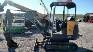2012 Volvo Ec20c Open Cab Small/compact Excavator Trackhoe photo