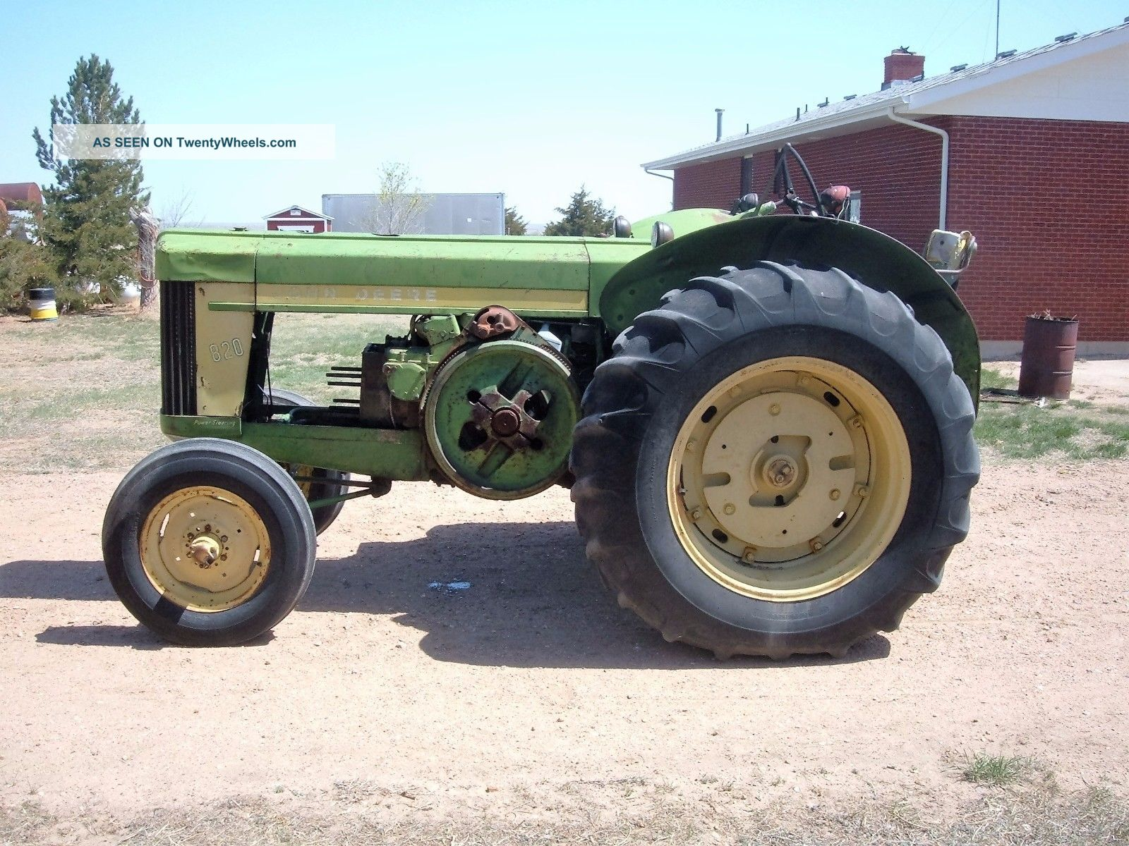 2 Motor Tractor : John deere tractor w pony motor engine parts