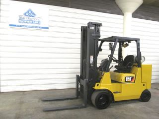 2008 ' Cat Gc55ks Str,  11,  000 Cushion Tire Forklift,  Lp Gas,  Triple,  4 Way Hyd. photo