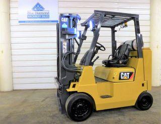 2010 ' Cat Gc40k Str,  8,  000 Cushion Tire Forklift,  Lp Gas,  Triple,  4 Way Hyd. photo