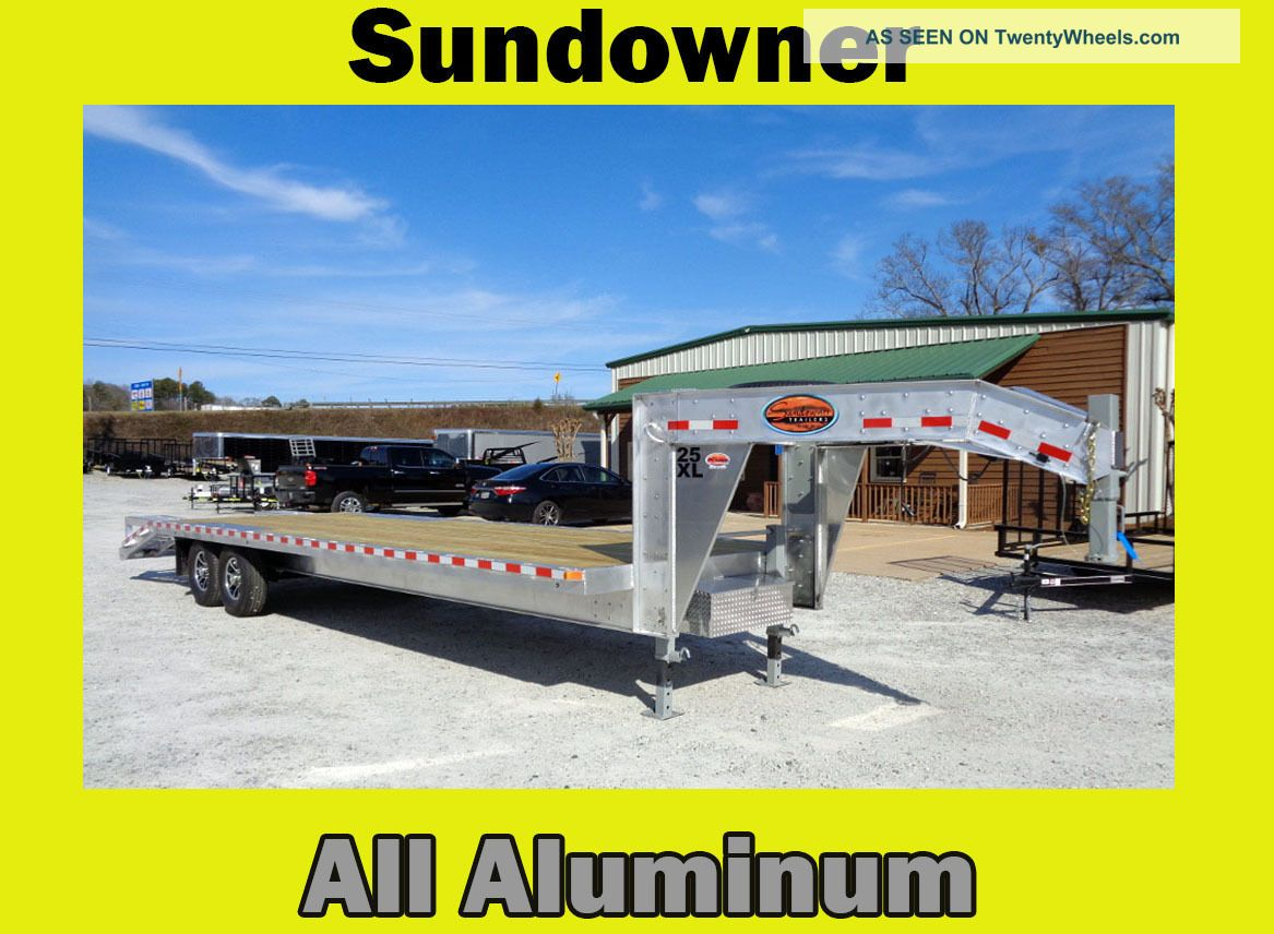 2017 Sundowner All Aluminum Gooseneck Flatbed Trailer Trailers photo