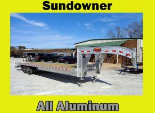 2017 Sundowner All Aluminum Gooseneck Flatbed Trailer photo