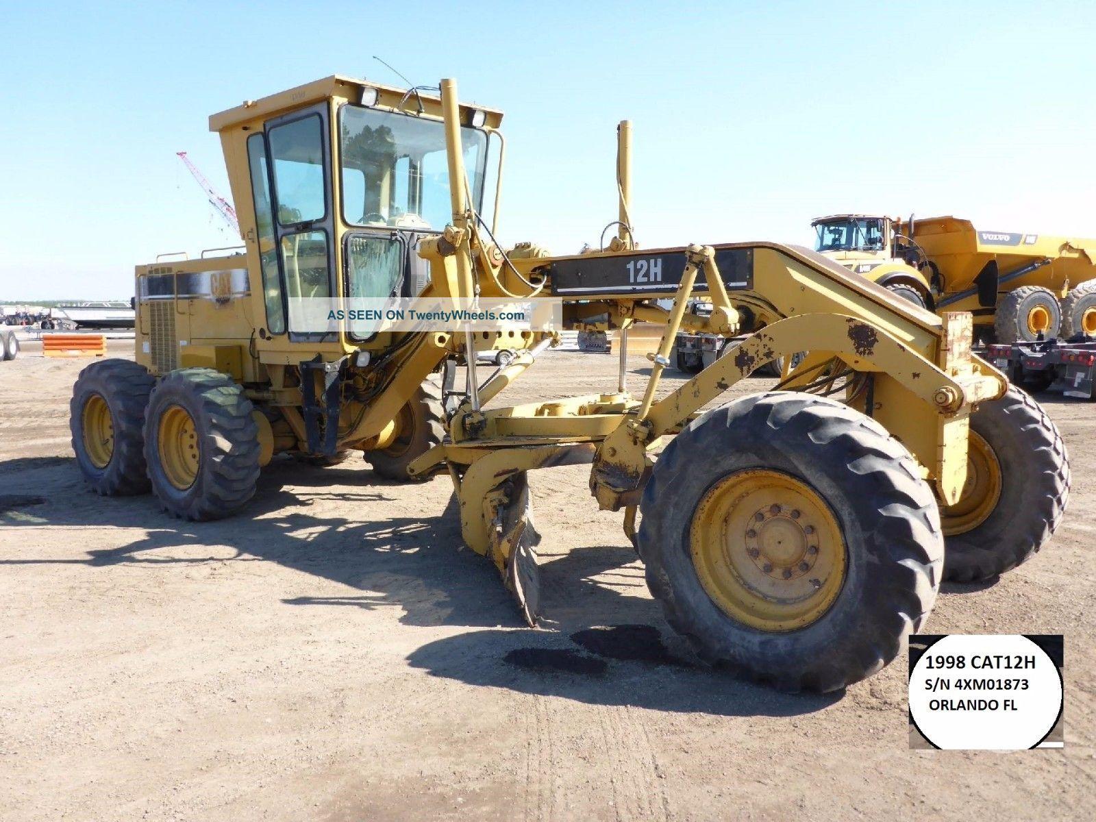 1998 Cat 12h Grader,  14ft Mb,  Ac,  Good Tires,  Runs Good $53500 - Orlando Fl See more 1998 CAT 12h Grader 14ft MB AC Good Tires Runs... photo