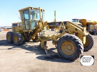 1998 Cat 12h Grader,  14ft Mb,  Ac,  Good Tires,  Runs Good $53500 - Orlando Fl photo