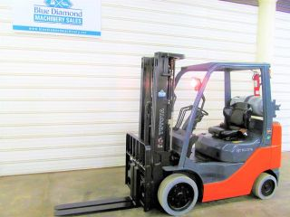 Toyota 8fgcu25,  5,  000 Cushion Tire Forklift,  Lps Rated,  4 Way,  Triple Sideshift photo