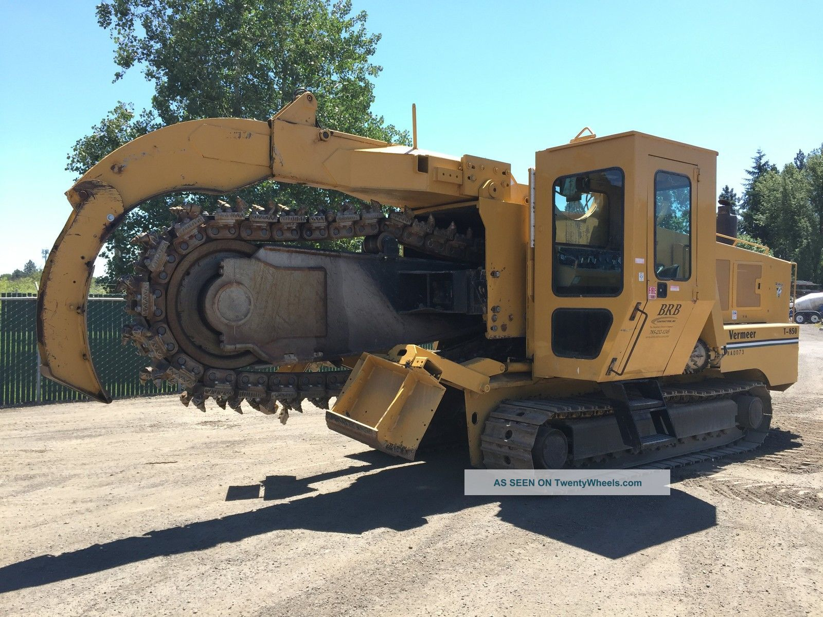 1992 Vermeer T850 Crawler Trencher Trenchers Trenchers - Riding photo