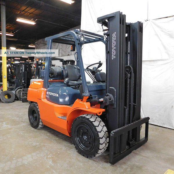 2013 Toyota 7fgu35 8000lb Pneumatic Forklift Lpg Lift Truck Hi Lo 87/187 Forklifts photo