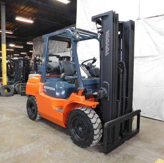 2013 Toyota 7fgu35 8000lb Pneumatic Forklift Lpg Lift Truck Hi Lo 87/187 photo