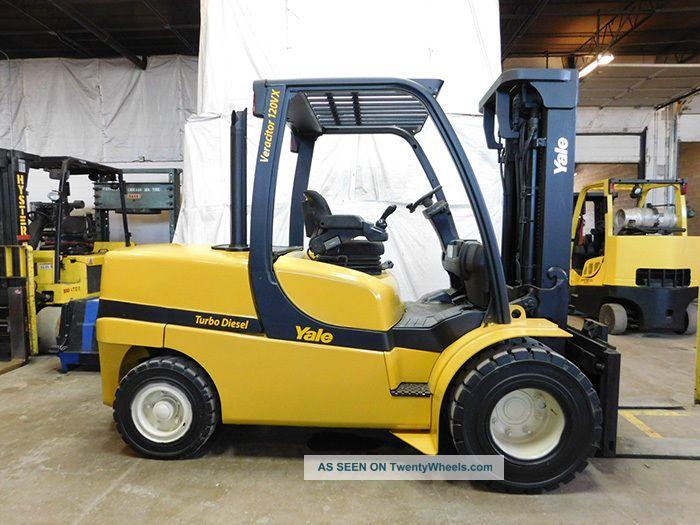 2010 Yale Gdp120vx 12000lb Dual Drive Pneumatic Forklift Diesel Lift Truck Hi Lo Forklifts photo