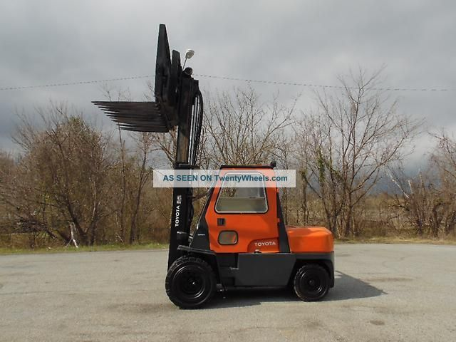 1999 Toyota 026fdu45 Forklift 10,  000 Lbs Dual Pallet Oscillating Forklifts photo