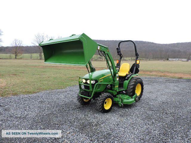 2014 John Deere 2032r Compact Tractor Loader Belly Mower Diesel 540 Pto 4x4 Tractors photo