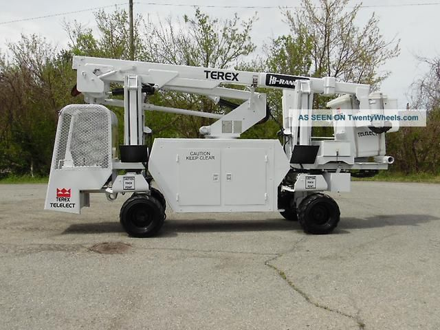 2004 Terex Telelect Hi - Ranger Backyard Boom/bucket On Rubber Tired Carrier Scissor & Boom Lifts photo