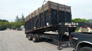 Big Tex 10 Ton Dual Tandem Dump Trailer 25 Du - 18 2007 Model. photo