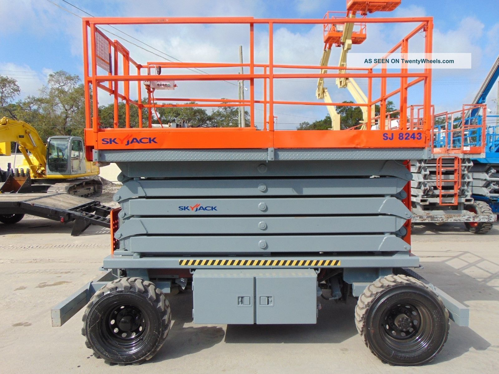 2007 Skyjack Sj - 8243 Rough Terrain Scissor Lift - 1,  000 Lb Capacity - Diesel 4x4 Scissor & Boom Lifts photo