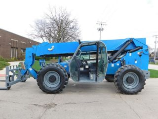 2011 Genie Gth - 844 8000lb Pneumatic Telehandler Diesel Telescopic Forklift 4x4x4 photo