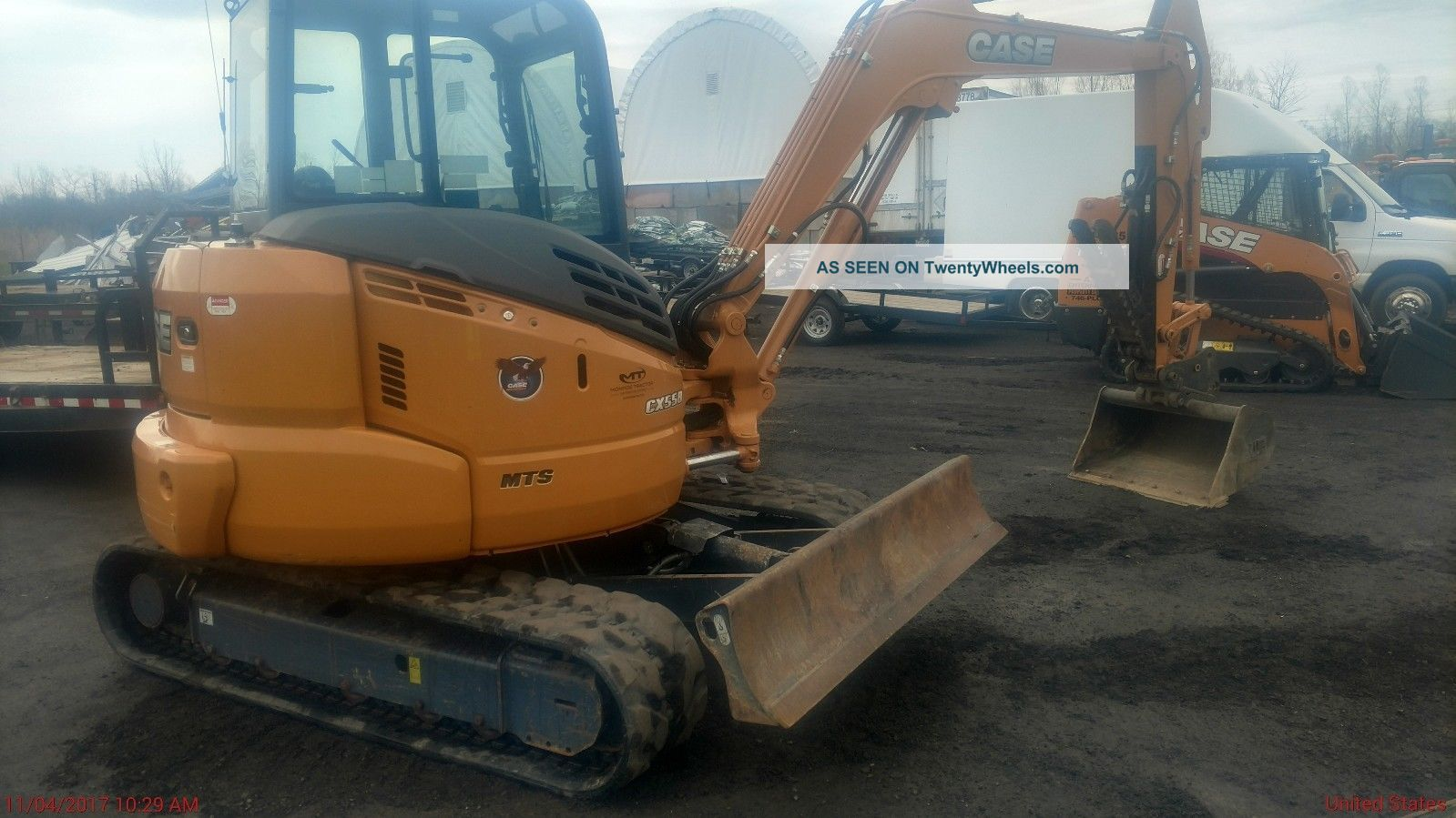 2015 Case Cx55 Mini Excavator Only 320 Hrs Excavators photo
