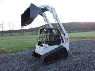 2005 Bobcat T180 Rubber Track Skid Steer Loader Kubota Turbo Diesel Dozer Loader photo