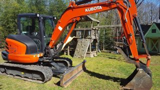 2016 Kubota Kx057 Excavator Cab Heat Ac Angle Blade Only 107hours Loaded photo