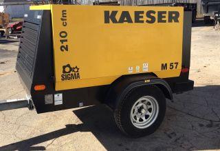 2014 Kaeser M57 Air Compressor 210 Cfm Kubota Diesel Tier 4 Interim photo