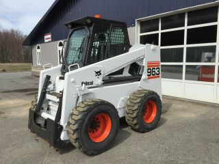 Bobcat 963 Skid Steer Loader Enclosed Cab Perkin Diesel We Ship photo