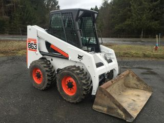 Bobcat 863 Skid Steer Loader Enclosed Cab Heat Air Wbucket We Ship photo