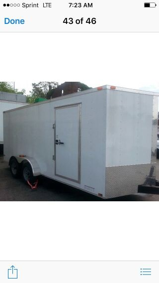 Cargo Trailer 7x16 Gvw 7000 In North Jersey photo