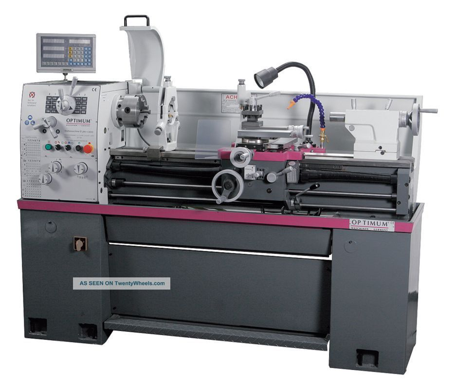 Optimum Engine Lathe W/3 Axis Dro,  D360x1000,  14x40,  2hp,  3phase 5rak3 Metalworking Lathes photo