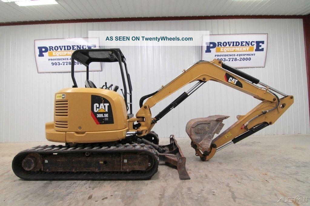 "2013 Cat 305.  5e Cr Mini Track Excavator,  11'5"" Dig Depth,  Aux.  Hydraulics Excavators photo"