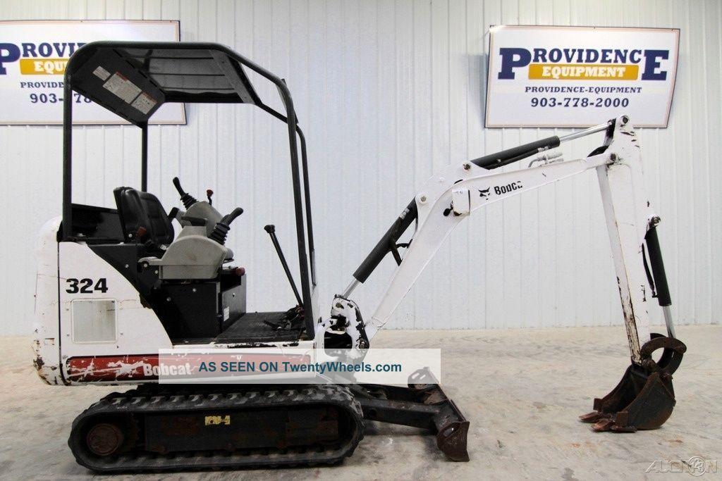 "2012 Bobcat 324m Mini Track Excavator,  8'9"" Dig Depth,  Only 478 Hrs Excavators photo"