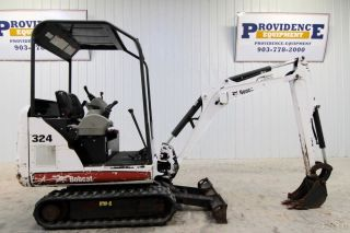 "2012 Bobcat 324m Mini Track Excavator,  8'9"" Dig Depth,  Only 478 Hrs photo"