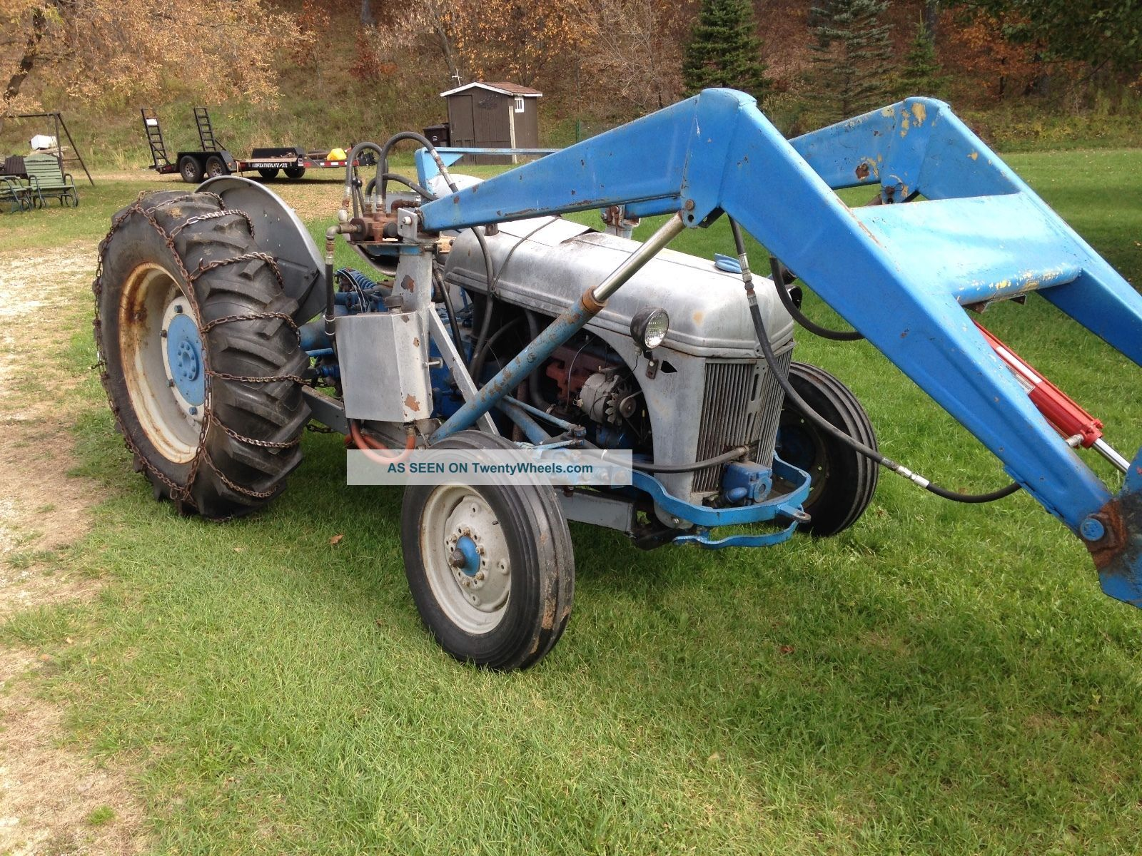 Ford 8n Bucket Loader : N ford tractor w loader live hydraulics