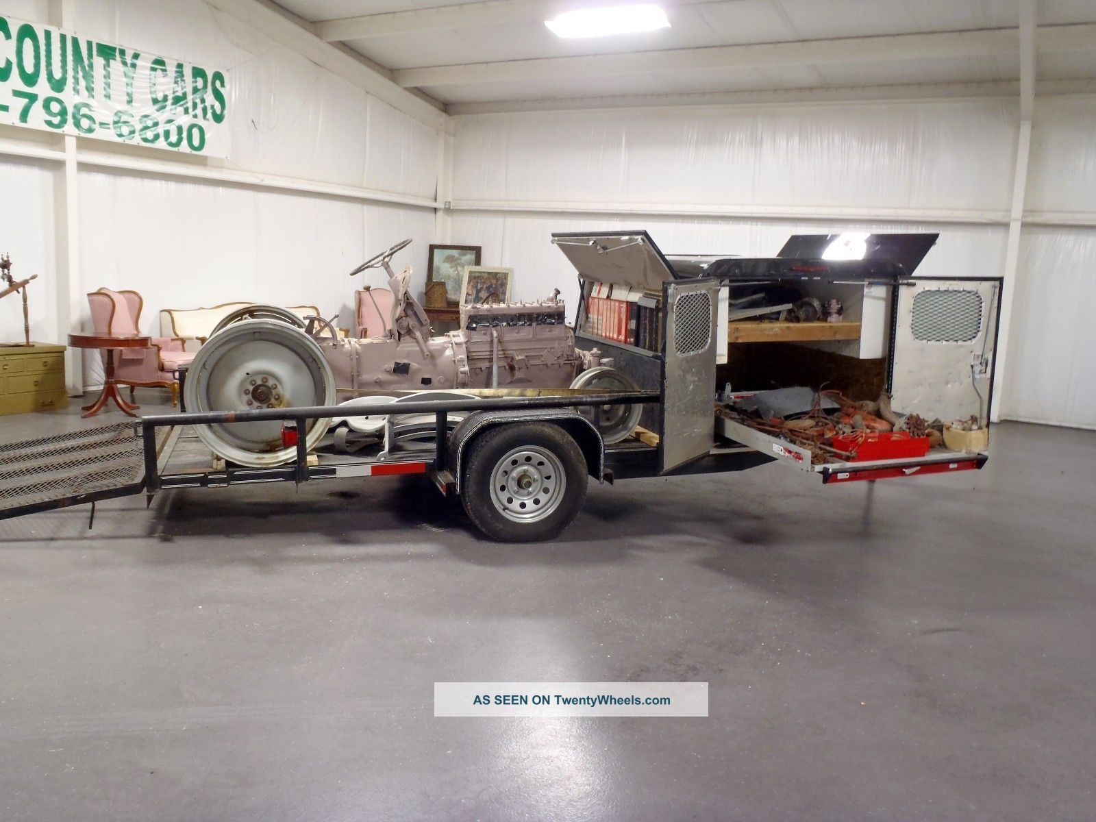 Ford 6n Tractor : Ford n i funk conversion tractor with trailer and