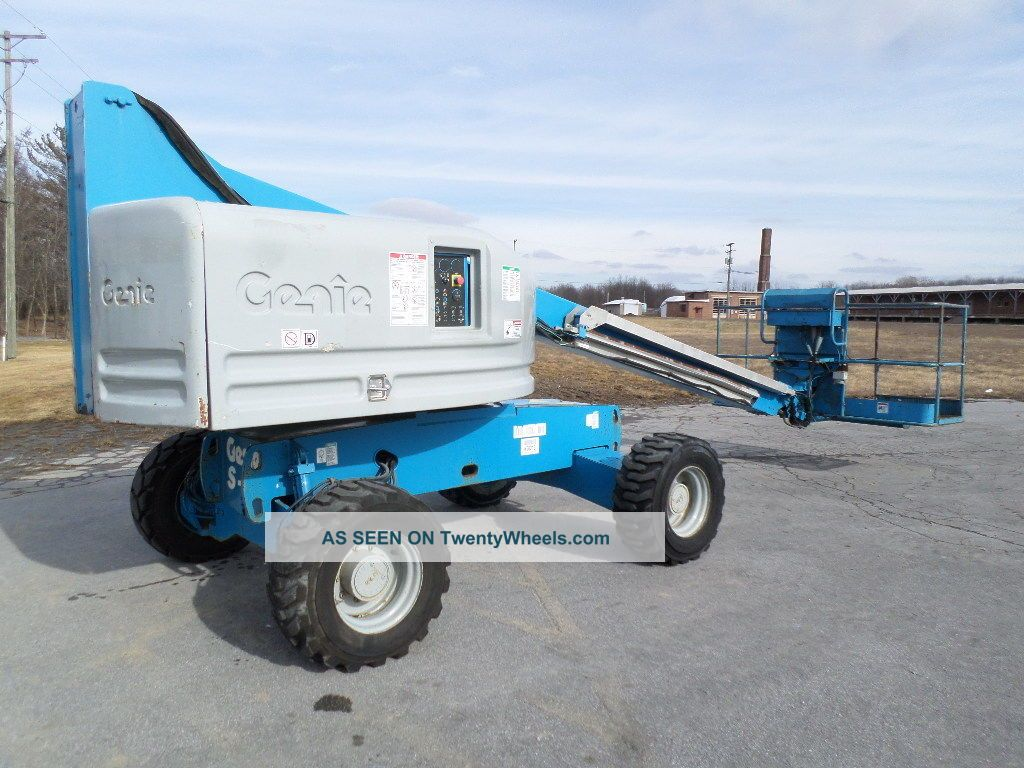 Genie S40 40 ' Boom Lift 40ft Man Lift Manlift Straight Stick Boomlift Man Basket Scissor & Boom Lifts photo